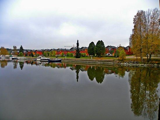 Porvoo, Finland: under the bridge