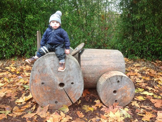 Diana Princess of Wales Memorial Playground: Part of the playgrounds held these great wooden vehicles.
