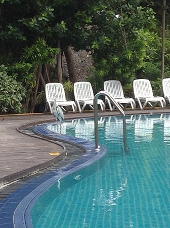 Plastik Pool pool mit plastik liegen - picture of adaaran select hudhuranfushi