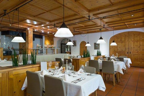 Hotel Laaxerhof: Restaurant Vallarosa