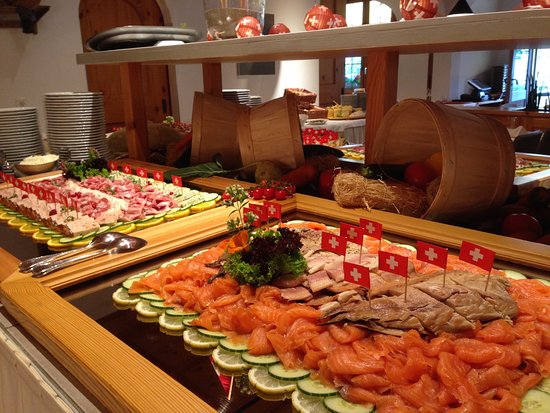 Laax, Switzerland: Buffet