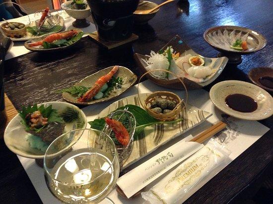 Pension Nojigiku: 夕食 このほかにもどんどん出てきます。