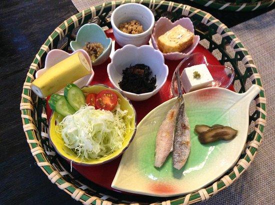 Pension Nojigiku: 朝食 お米もペンションで作られているそう。