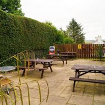 Wigtown, UK: Our inviting beer garden