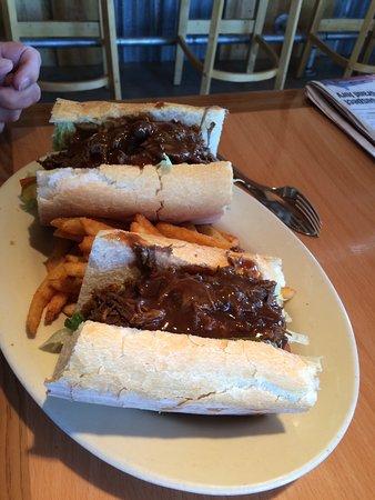 Bay St Louis, MS: Yummy roast beef poboy