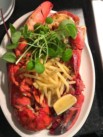 Herstmonceux, UK: Whole Lobster - Seafood Evening