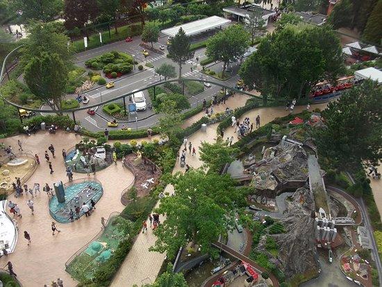 Legoland Billund: Zicht op de Monorail.