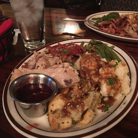 The Rancher's Steak and Seafood: Delicious Thanksgiving feast, with adult beverages