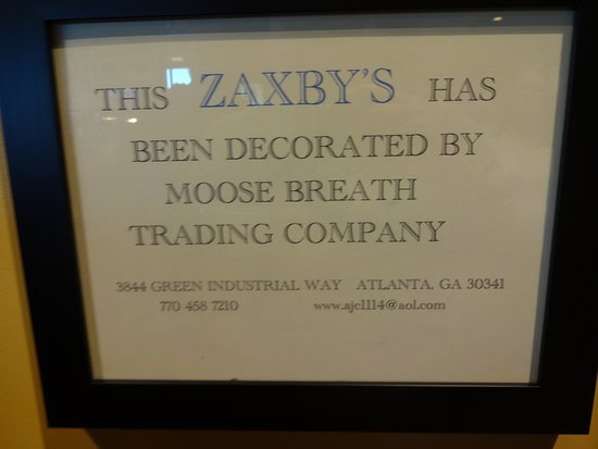 Zaxby's: Interesting sign