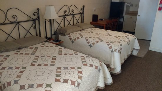Tiptonville, TN: Motel room at Blue Basin Cove Lodge