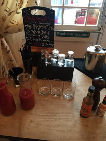 Bloody Mary station at breakfast!