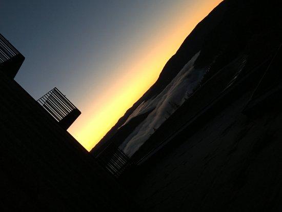 كوبرهيل ماونتن لودج: View from our balcony at Copperhill Mountain Lodge
