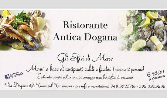 Tuoro sul Trasimeno, Italy: prenotazione obbligatoria...ostriche e sashimi