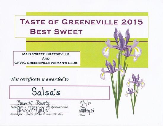 The Salsas Restaurant: Salsas 2015