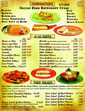 the salsas restaurant menu 5