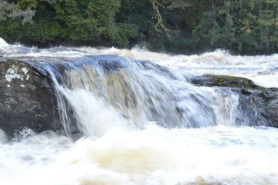 Lochearnhead, UK: The Falls at Killin, short exposure