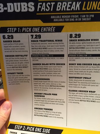 Buffalo Wild Wings menu prices are very respectable. They might be a little higher than what you would expect in find in competing casual dining chains. But this .