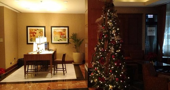 Hilton Chicago/Magnificent Mile Suites: Holiday Lobby Decor