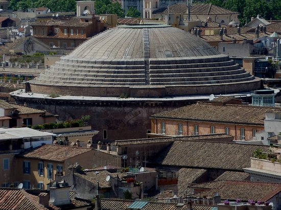 Pantheon - roof, photo taken from Terrazza delle Quadrighe ...