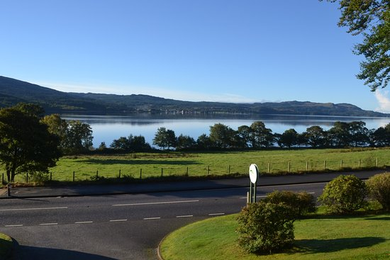 Appin, UK: View from our lodge (Beech)