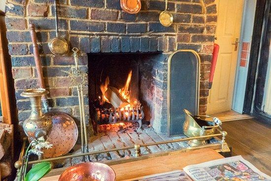 Halland, UK: Fireplace