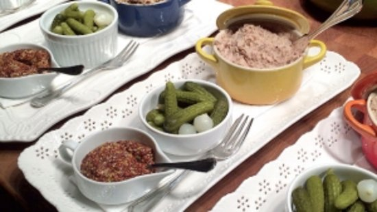 Pottstown, Pensilvania: Rillettes with traditional accompaniments