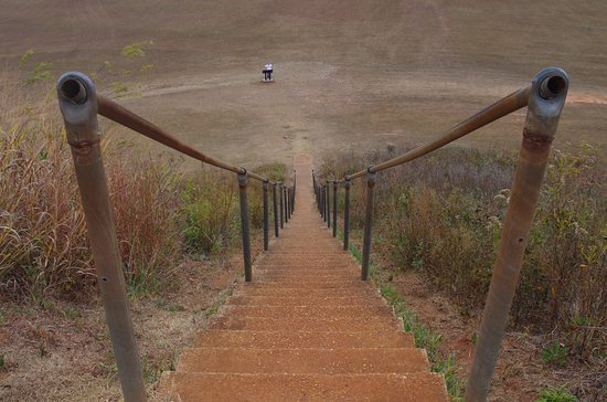 Blakely, GA: steps at the top of the temple mound