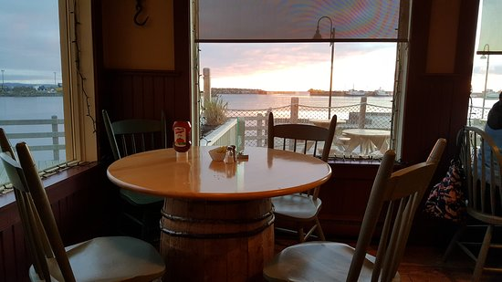 Bonavista, Canada: View from the table in the corner