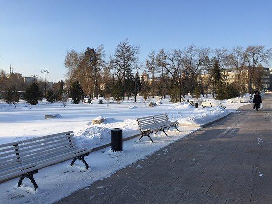 Fountain at Tarskaya Street
