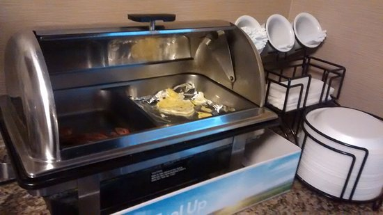Washington, PA: Bacon and Eggs to start the day... waffle machine was great too