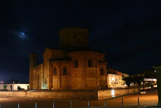 Fromista, Spain: San Martin before sunrise as we began our walk