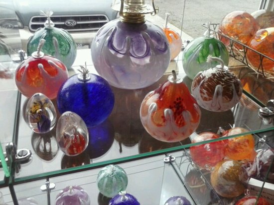 Rockaway Beach, OR: Oil candles and paperweights