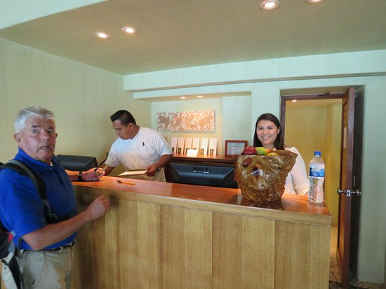 Capella Ixtapa: Check in area with Juan Paul and Connie - very friendly and helpful!!!