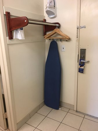 DeFuniak Springs, FL: Closet/ironing board by interior door