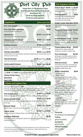 Portsmouth, OH: Port City Pub Menu
