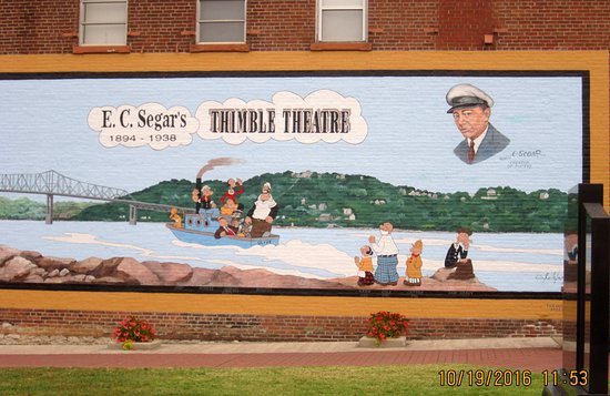 Chester, IL: Thimble Theater wall painting