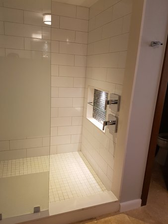 Walk in shower with rainfall shower head - Picture of Sandals South ...