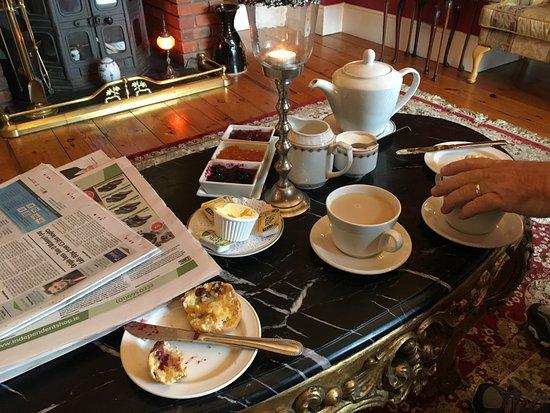Highfield House: Fireside tea