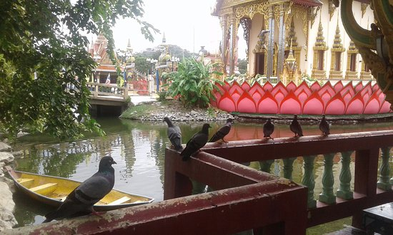 Wat Plai Laem is gorgeous from any angle.