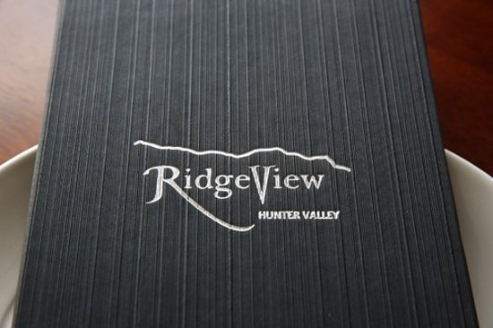 Rothbury, Avustralya: Ridgeview-Menu_large.jpg