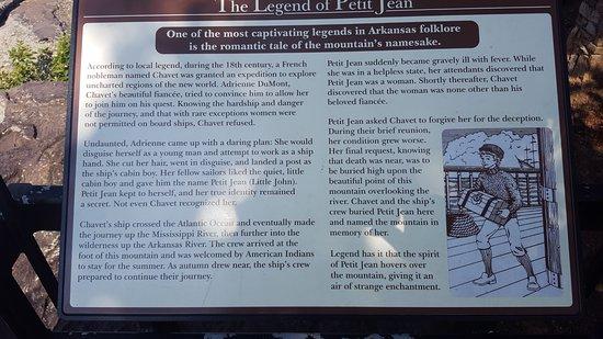 Morrilton, AR: Legend of Petit Jean.