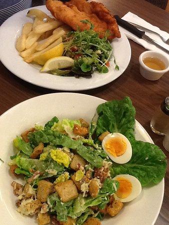 Charlestown, Australia: Chicken schnitzel & Caesar salad $40