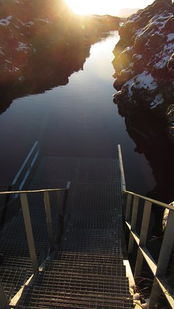 Hafnarfjordur, أيسلندا: Starting platform and trench