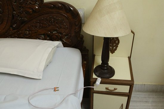 Hotel New Park: This was plugged in behind the bed????