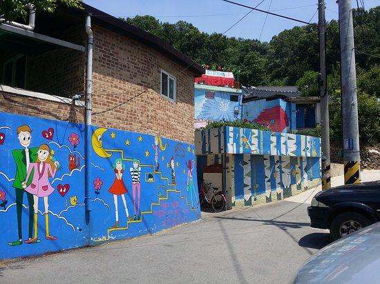 Picture of jaman mural village jeonju tripadvisor for Mural village
