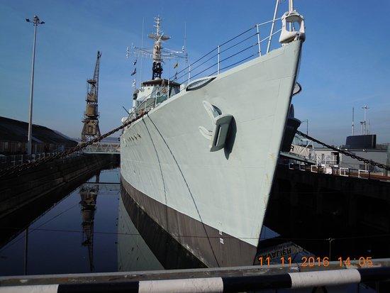 Chatham, UK: HMS Cavalier Bow