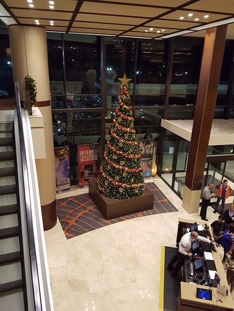 Castle Hill, Australia: The Christmas tree in the foyer.