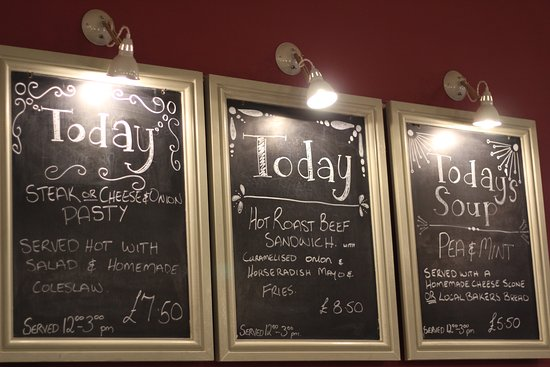 "Widecombe in the Moor, UK: ""What's on the board today?"""