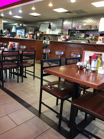 Rochester Hills, MI : Old diner seats! They have booths as well