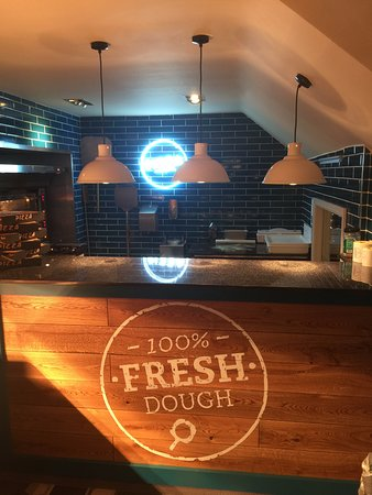 Shepperton, UK: Fresh Pizza  now served from here!!!! We make our dough fresh every day you know!